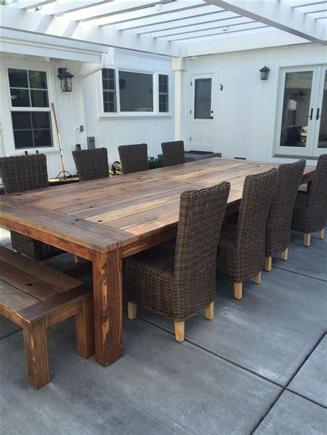 handmade reclaimed wood farm table outdoor  indoor  urban mining company custommadecom