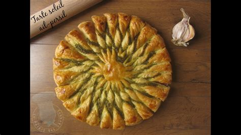 recette de tarte soleil ail persil youtube