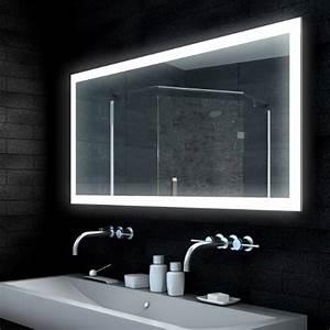Lampe Für Badezimmerspiegel : lux aqua design spiegel lichtspiegel badezimmerspiegel led lampe mit 1850 lumen 140x65 mld14065 ~ Orissabook.com Haus und Dekorationen