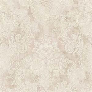 NH22001 Floral Damask Pink Brockhall Wallpaper Collection ...