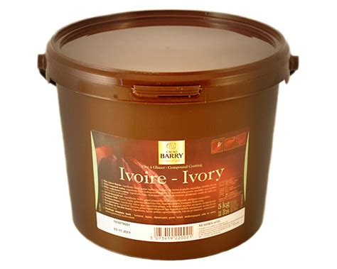 farinex pate a glacer chocolat blanc ivoire composee seau 5kg barry chocolat c 922002 pate a