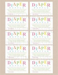 free printable diaper raffle ticket template