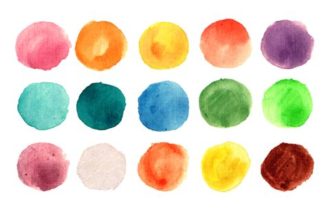 Watercolor circle texture 135 pack ~ Textures on Creative