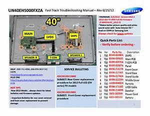 Samsung Un40eh5000fxza Fast Track Guide Service Manual