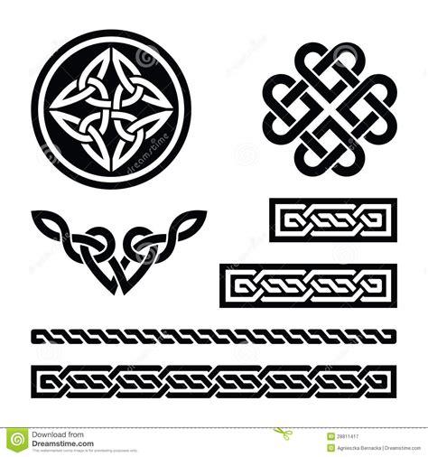 Celtic Knots, Braids And Patterns - Stock Illustration ...