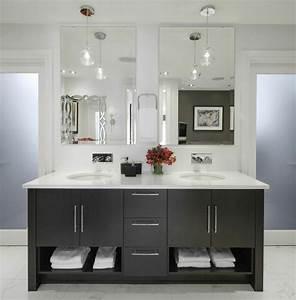 meuble salle de bain noir un rangement plein de caractere With meuble rangement salle de bain noir