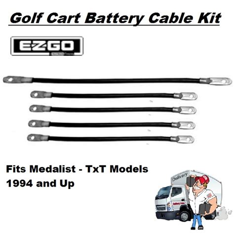 Golf Cart Battery Cables Set For Ezgo Medalist