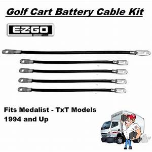Golf Cart Battery Cables - Set For Ezgo Golf Cart Medalist-txt