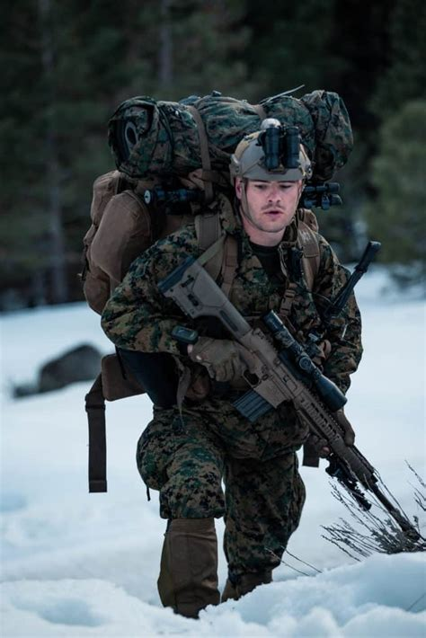 Force Reconnaissance Company (FORECON) in force-on-force exercise during Mountain Exercise 2-20 ...