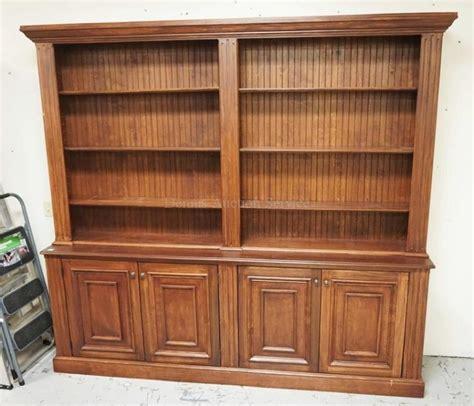 bookshelf with cabinet base large bookcase with a cabinet base having 4 paneled doors 9