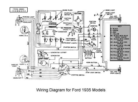 1952 Chevy Sedan Turn Signal Wiring Diagram by Ford Truck Wiring Diagrams 1935 Flathead Electrical