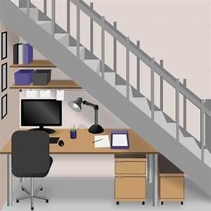 Amenager Sous Escalier : am nager un bureau sous un escalier ooreka ~ Voncanada.com Idées de Décoration