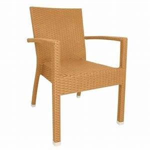 Fauteuil En Osier : lot de 4 fauteuils en osier empilables avec accoud ~ Melissatoandfro.com Idées de Décoration