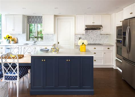 blue and white kitchen cabinets navy blue kitchen cabinets eclectic kitchen farrow