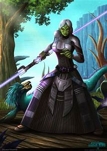 Delara Seranne Sith Mirialan and her varactyl pet by ...