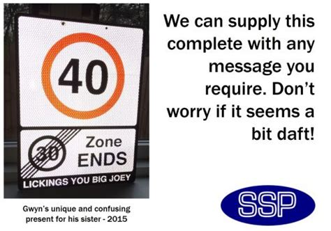 customised 40 leaving the 30 zone road sign unique present idea for 40th birthday ssp direct