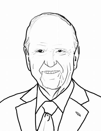 Lds President Coloring Clipart Nelson Russell Prophets
