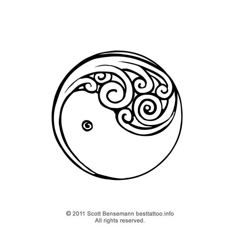black maori wave copiable template new zealand maori silver fern koru yin yang tattoo flash