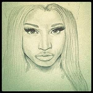 Nicki Minaj graphite drawing, from her Freedom video ...