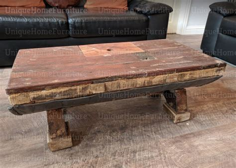 Recycled half whisky barrel coffee table with solid oak table top, jack daniel's logo and storage compartment. Industrial Coffee Table Vintage Storage Furniture Rustic Solid Wood Metal Handmade Barrel ...