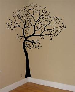 wall decal tree branch birds leaves art sticker mural With great tree decals for walls