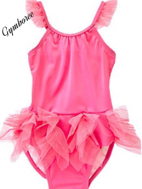 nwt gymboree girls swim shop pink tutu ruffle swimsuit