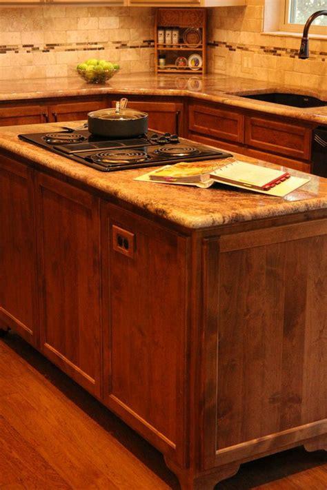 custom cabinet island granite countertop tumbled marble