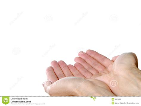 Offering With Both Hands Stock Photo. Image Of Body