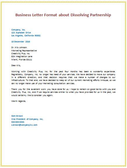 business letter samples templates  format