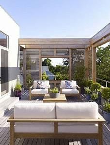 somptueuse terrasse d39appartement a ciel ouvert With idee d amenagement exterieur 6 6 decorations de terrasse abritees par de la verdure