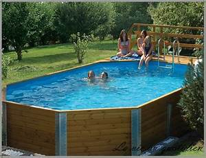 Piscine Acier Aspect Bois : mise en place piscine hors sol acier aspect bois ~ Dailycaller-alerts.com Idées de Décoration