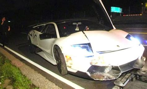 crashed white lamborghini owner manages to crash his murciélago lp670 4 sv in just