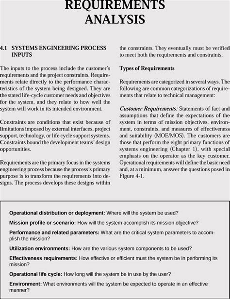 requirements analysis examples  business software