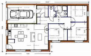 votre avis plan maison de 90m2 garage 109 messages With loi carrez dimension chambre