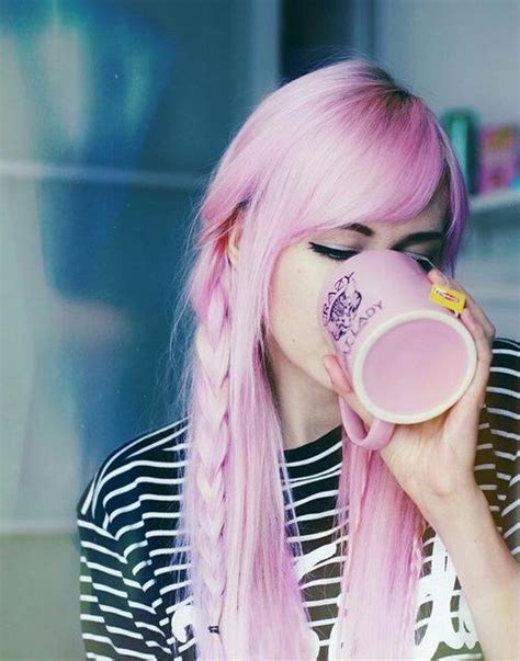 Pink Long Hair And Braids Pictures Photos And Images For