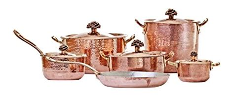 amoretti brothers copper cookware flower lid  pieces set  cookware channel