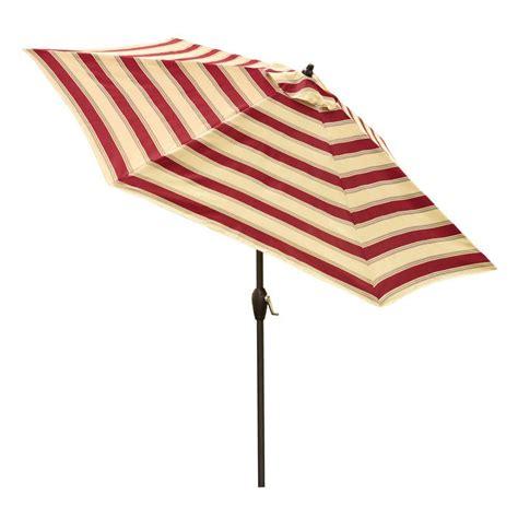 hton bay 9 ft aluminum solar patio umbrella in