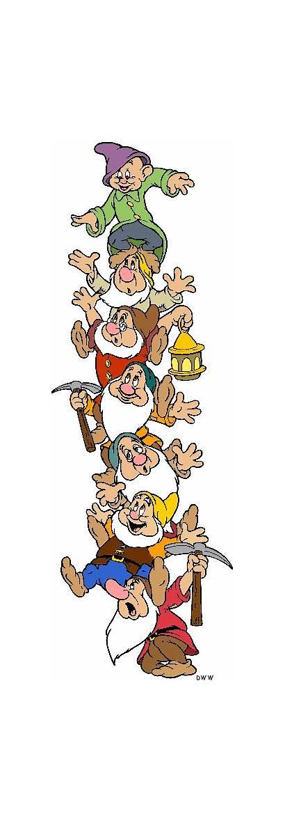 Dwarfs Seven Clipart Clip Tower Snow Disney