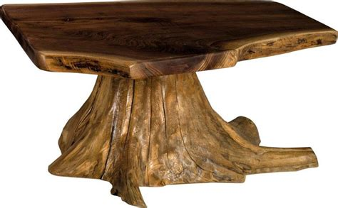 Rustic Coffee Table With Stump Base From Dutchcrafters