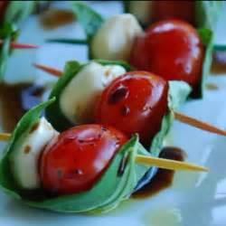 Tomatoes Mozzarella Basil Appetizer