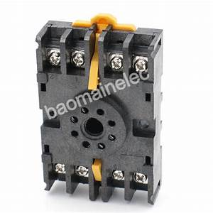 Din Rail Mount 8pfa 8 Pin Timer Relay Socket Octal Base