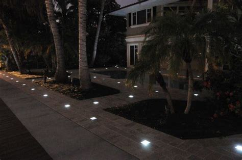 solar powered paver lights garden spaces