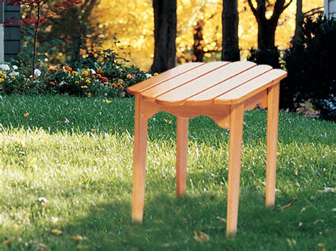 adirondack side table plan   house plans