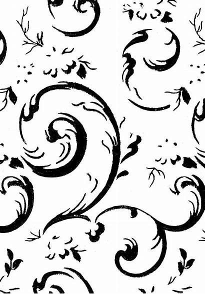 Clipart Digital Background Swirls Backgrounds Drawing Scroll
