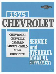 Chassis Service Manual Fits 1975 Chevelle   Opgi Com
