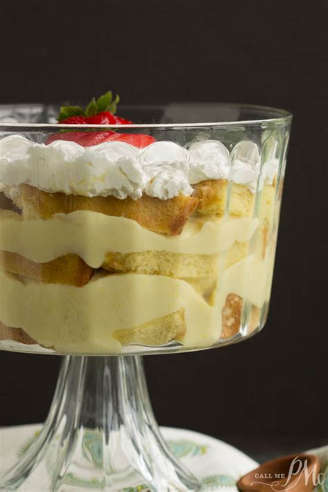 scratch punch bowl pound cake trifle call  pmc