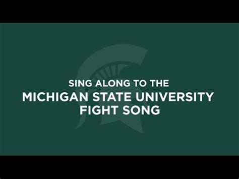 msu fight song sing along