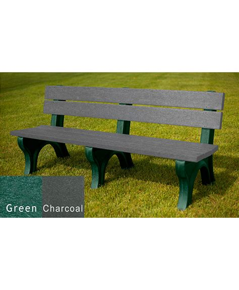 Traditional Benches by Traditional Bench With Back Recycled Plastic Park