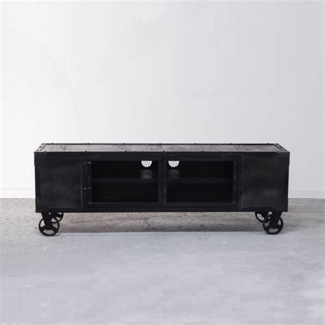 meuble tv industriel en bois et fer