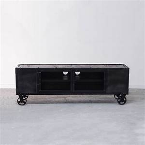 Meuble Bois Et Noir : vente meuble industriel pas cher mobilier int rieur ~ Dailycaller-alerts.com Idées de Décoration